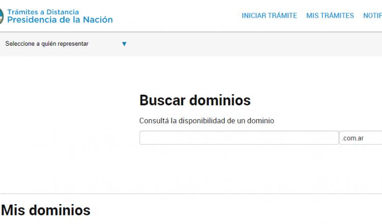Delegar dominios .com.ar