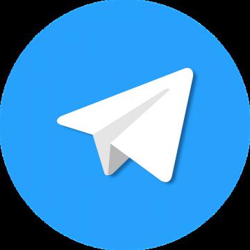 Logotipo Telegram Omar Maluf Diseño